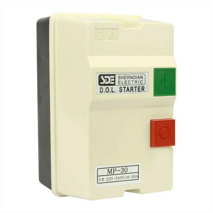 Superior Electric 18837 3 Phase, 50HZ @ 240V & 60HZ @ 220V, 7.5-HP, 18-26-Amp Magnetic Switch - CSA Approved