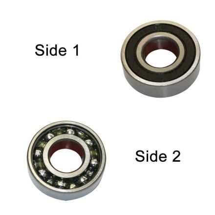 Superior Electric SE 6201-RS-D Replacement Ball Bearing - Seal/Open, ID 12 mm x OD 32 mmx W 10 mm  Milwaukee 02-04-1205, Bosch 2610921080 (2pcs/pk)