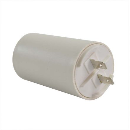 Superior Electric CMC7005 40MFD +/-5% 50Hz/60Hz AC 250V Cylinder Motor Running Capacitor - 2 Pin, White Color, 8mm Threaded End (CBB60)