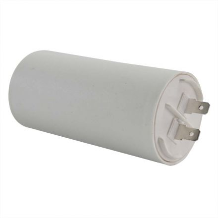 Superior Electric CMC7007 60MFD +/-5% 50Hz/60Hz AC 250V Cylinder Motor Running Capacitor - 2 Pin, White Color, 8mm Threaded End (CBB60)
