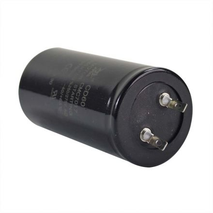 Superior Electric CMC7017 240-260 MFD +/-5% 50Hz/60Hz AC 250/275V Cylinder Motor Starting Capacitor - 2 Pin, Black Color (CD60)