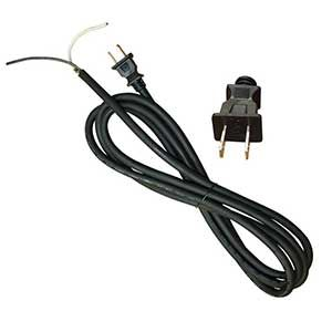Superior Electric EC142V6 9 Feet 14 AWG SOOW 2 Wire 125 Volt NEMA 1-15P Electrical Cord