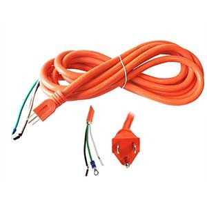 Superior Electric EC143V6-15R 15 Feet 14 AWG STOOW 3 Wire 600 Volt NEMA 5-15P Electric Cord with Eyelets - Orange