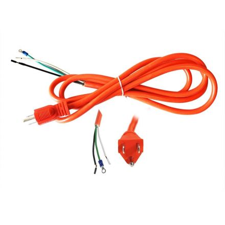 Superior Electric EC163V6-8.5R 8.5 Feet 16 AWG STOOW 3 Wire 600 Volt NEMA 5-15P Electric Cord with Eyelets - Orange