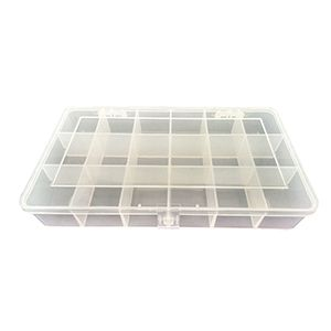 Superior Electric PB Plastic 18 Compartments Electronic Components Storage Box Case