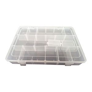 Superior Electric PB-40 Plastic 18 Compartments Electronic Components Storage Box Case (Large)