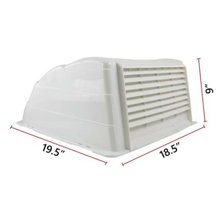 Superior Electric RVA1549W RV Trailer Universal Roof Vent Cover / Lid with Included Hardware - White