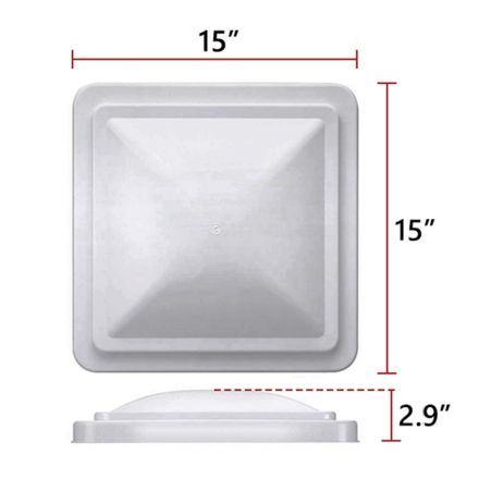 Superior Electric RVA1550W RV Trailer Roof Vent Lid / Cover Universal Replacement - White