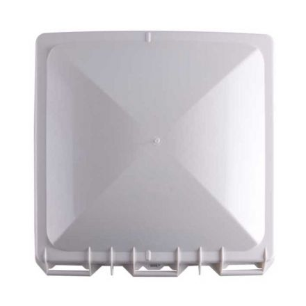Superior Electric RVA1551W RV Trailer Vent Cover / Lid Fits for Jensen Metal Roof Vents - White