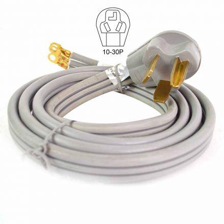 Superior Electric RVA1560 3-Wire 30 Amp Dryer Cord NEMA 10-30P, SRDT 10AWG/3, 6ft