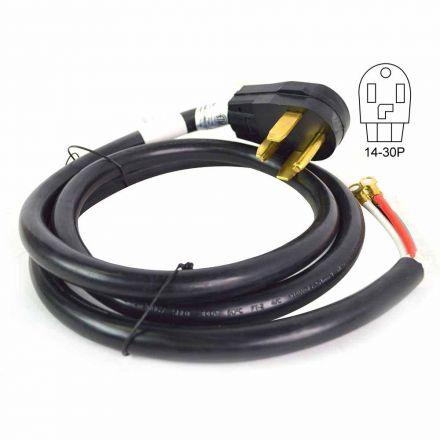 Superior Electric RVA1562 4-Wire 30 Amp Dryer Cord NEMA 14-30P, SRDT 10AWG/4, 6ft
