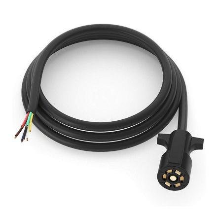 Superior Electric RVA1566-C 7-Way Trailer RV Truck Cord & Plug – 8ft Cable