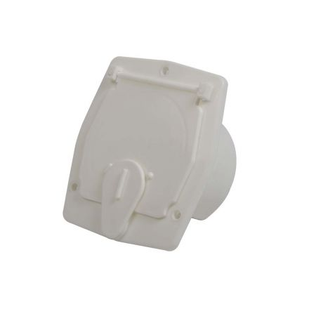 Superior Electric RVA1572 Basic Square Electric Cable Hatch for 30 Amp Cord - White