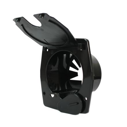 Superior Electric RVA1573 Basic Square Electric Cable Hatch for 30 Amp Cord - Black
