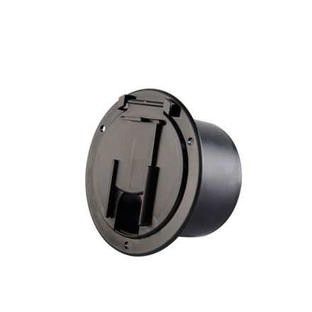 Superior Electric RVA1575 Round Electric Cable Hatch for 50 Amp Cord - Black