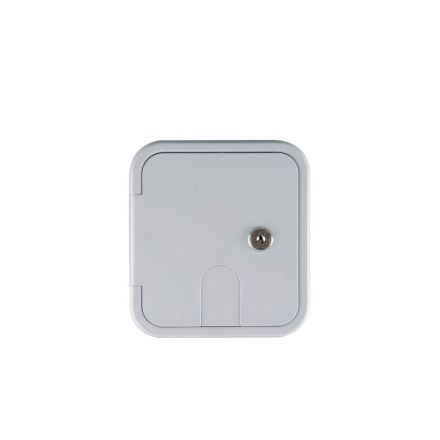 Superior Electric RVA1576 Electric Cable Hatch with Key Lock for 30 Amp Cords - White
