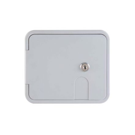 Superior Electric RVA1578 Electric Cable Hatch with Key Lock for 30/50 Amp Cords - White