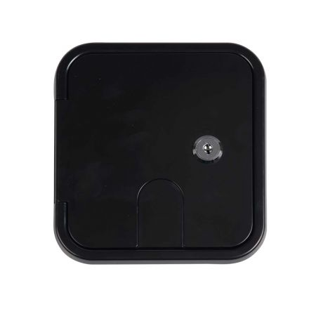 Superior Electric RVA1579 Electric Cable Hatch with Key Lock for 30/50 Amp Cords - Black
