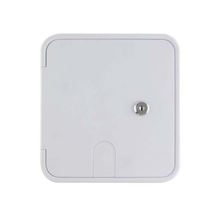 Superior Electric RVA1580 Electric Cable Hatch with Key Lock for 30/50 Amp Cords - White