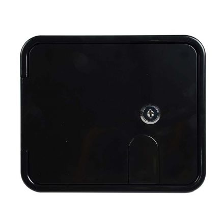 Superior Electric RVA1581 Electric Cable Hatch with Key Lock for 30/50 Amp Cords - Black