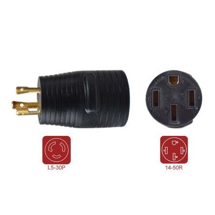 Superior Electric RVA1591 30 Amp Male NEMA L5-30P to 50 Amp Female NEMA 14-50R Adapter Plug for RV