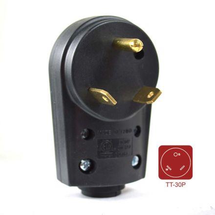 Superior Electric RVA1593 30 AMP RV Plug NEMA TT-30P with Handle - ETL Approved