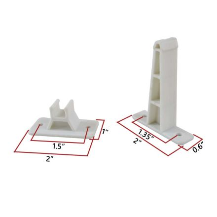 Superior Electric RVA1616 3-Inch Plastic Clip Entry Door Holder for RV Trailer - White
