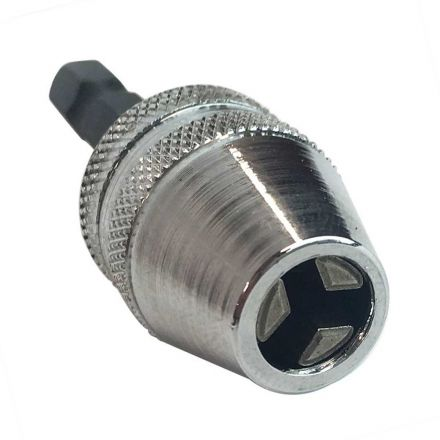 Superior Electric J018 Mini (1/32 Inch to 5/32 Inch) Keyless Drill Chuck with 1/4 Inch Quick-Change Hex Shank Adapter