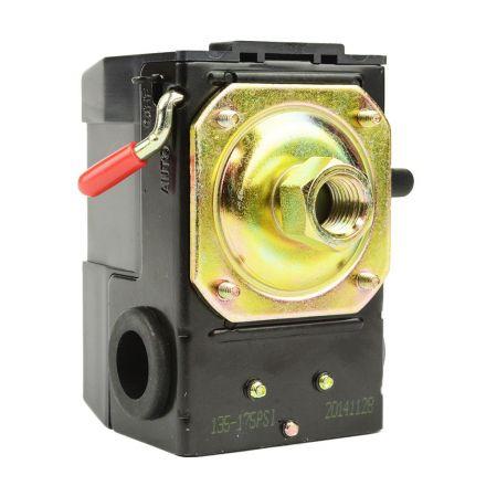 Superior Electric LF10-1H-HP Pressure Switch - 1/4 FPT One Port - Bend Lever Swicth - 135-175 PSI fits Dewalt Hitachi Emglo Makita Porter Cable Ridgid Rolair Air Compressors