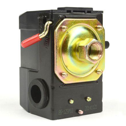 Superior Electric LF10-1H Pressure Switch - 1/4 inch Female NPT Single Port - Bend/Lever Switch 20 Amps 85-125 PSI Fits Dewalt Emglo Hitachi Makita Porter Cable Ridgid Rolair Air Compressor