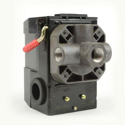 Superior Electric LF10-4H-HP Pressure Switch - 1/4 inch FPT Four Port - Bend Lever Swicth 135-175 PSI fits Dewalt Hitachi Emglo Makita Porter Cable Ridgid Rolair Air Compressors