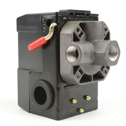 Superior Electric LF10-4H Pressure Switch - 1/4 inch FPT Four Port Bend Lever Switch 20 Amps 85-125 PSI Fits Dewalt Hitachi Emglo Makita Porter Cable Ridgid Rolair Air Compressors