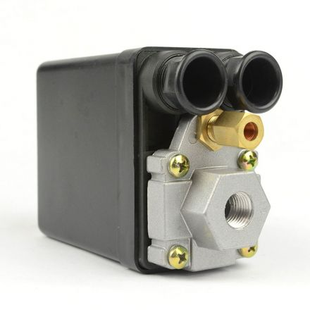 Superior Electric LF10-L1H Pressure Switch - 1/4 inch FPT Single Port - Push Pull Switch 20 amps 95-125 PSI fits Dewalt Hitachi Emglo Makita Porter Cable Ridgid Rolair Air Compressors