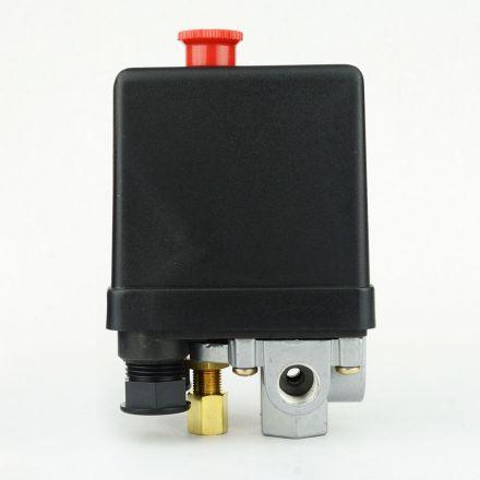 Superior Electric LF10-L4H Pressure Switch - 1/4 inch FPT Four Port - Push Pull Swicth 95-125 PSI Fits Dewalt Hitachi Emglo Porter Cable Ridgid Makita Rolair Air Compressors