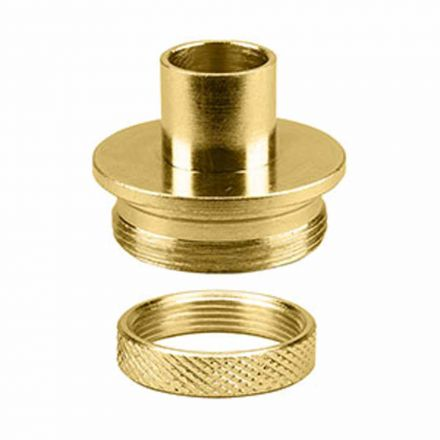 Superior Electric 19668 Brass Router Template Guide I.D. 17/32 Inch O.D. 5/8 Inch with Lock Nut - Door Template Kit Replaces Porter Cable 42045, 42237 & Templaco TG-1