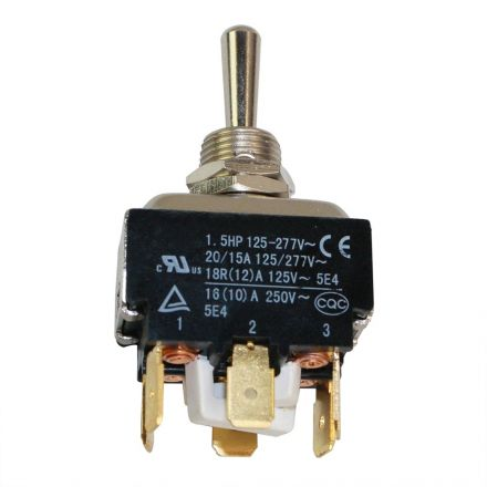 Superior Electric SW30E Aftermarket On-Off Toggle Switch 125 / 277 Volt, 20/15 Amp Replaces Emglo/DeWalt 5130221-00, Hubbell HBL215P, MK Diamond 154310 & Ridgid 44905