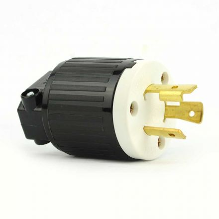 Superior Electric YGA018 Twist Lock Electrical Plug 3 Wire, 20 Amps, 125V, NEMA L5-20P