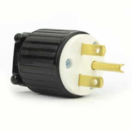 Superior Electric YGA020 Straight Electrical Plug 3 Wire, 15 Amps, 250V, NEMA 6-15P