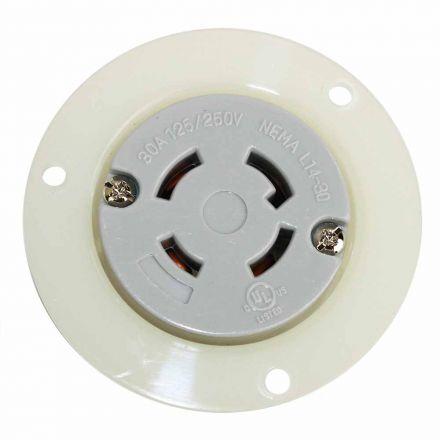 Superior Electric YGF043F Twist Lock Receptacle Flange 3-Pole 4-Wire 30A 125/250V NEMA L14-30R