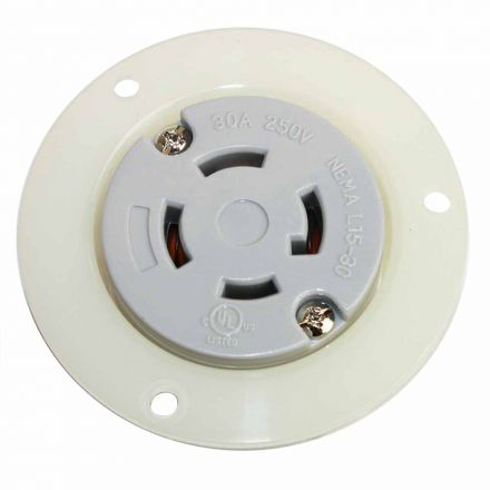 Superior Electric YGF044F Twist Lock Receptacle Flange 3-Pole 4-Wire 30A 250V NEMA L15-30R