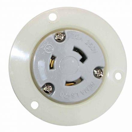 Superior Electric YGF045F Twist Lock Receptacle Flange 2-Pole 3-Wire 20A 250V NEMA L6-20R