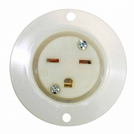 Superior Electric YGF048F Std Receptacle Flange 2-Pole 3-Wire 15A 250V NEMA 6-15R