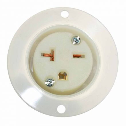 Superior Electric YGF050F Std Receptacle Flange 2-Pole 3-Wire 20A 250V NEMA 6-20R