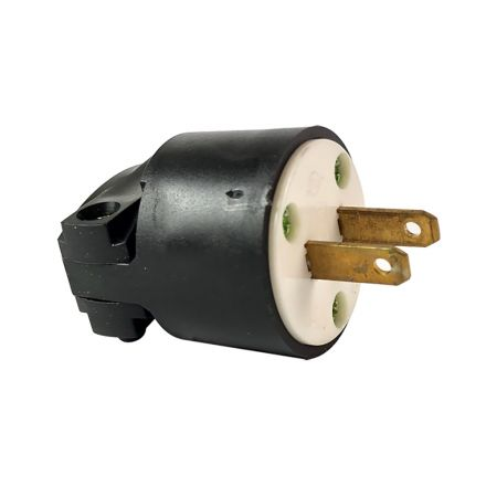 Superior Electric YGA015 2-Prong 15A-125V NEMA 1-15P Straight Electrical Male Plug