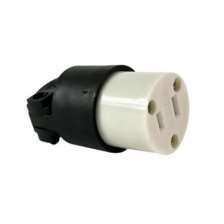 Superior Electric YGA015F 2-Prong 15A-125V NEMA 1-15R Straight Electrical Female Receptacle