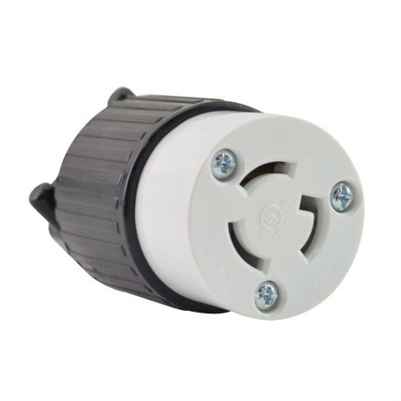 Superior Electric YGA026F Twist Lock Electrical Receptacle 3 Prong 15A 125V - NEMA L5-15C