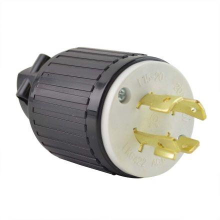 Superior Electric YGA029 Twist Lock Electrical Plug, 4P 20A 250V - NEMA L15-20P