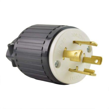 Superior Electric YGA030 Twist Lock Electrical Plug, 4P 30A 250V - NEMA L15-30P