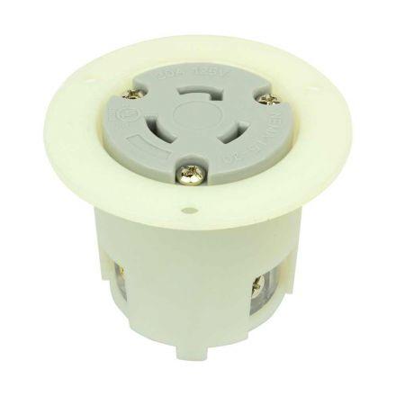 Superior Electric YGF036F Twist Lock Flange Receptacle 3 Wire, 20 Amps, 125V, NEMA L5-20R