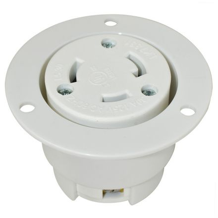 Superior Electric YGF038F Twist Lock Flange Receptacle 3 Wire, 30 Amps, 125V, NEMA L5-30R